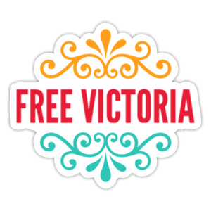 Free Victoria! Men's Sticker - Anything Goes store