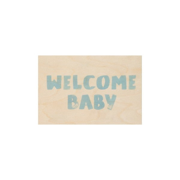 Carte Welcome blue