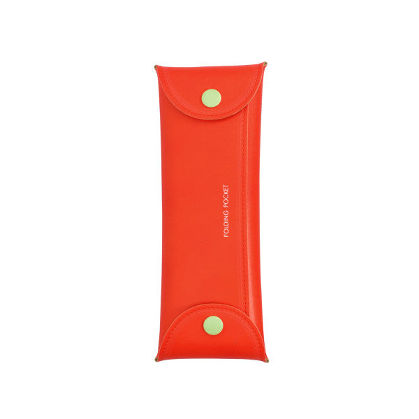 Trousse pochette pliable - Carrot Red