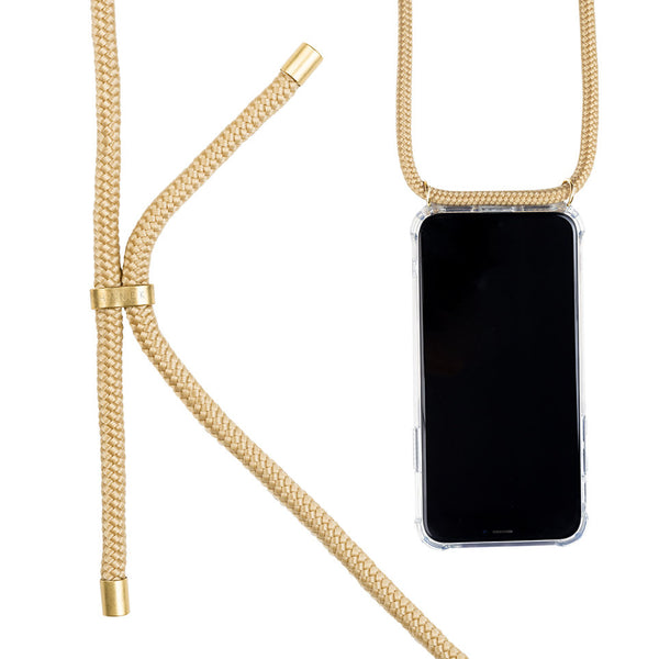 Coque collier  pour iphone 12-12 pro modele golden collier dore