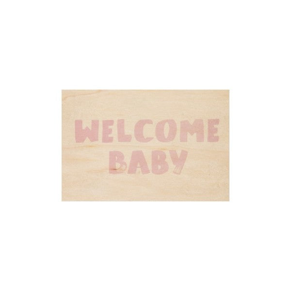 Carte Welcome pink