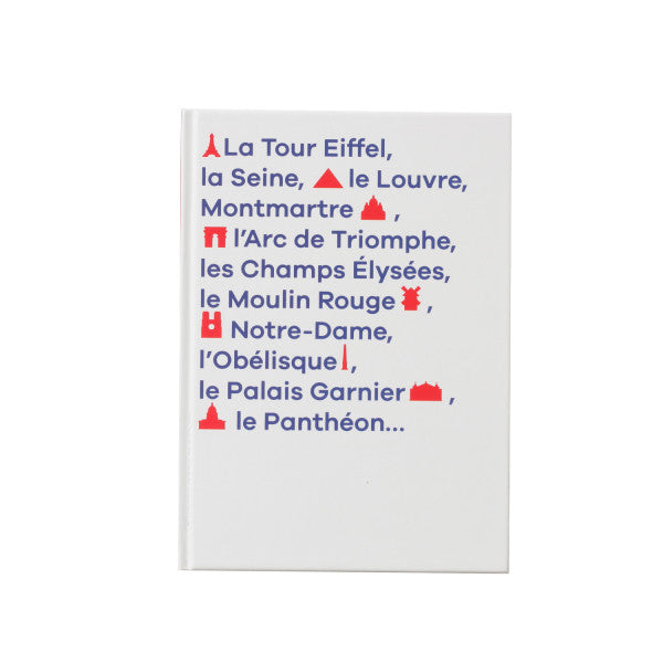 Carnet A6 souple monuments Paris