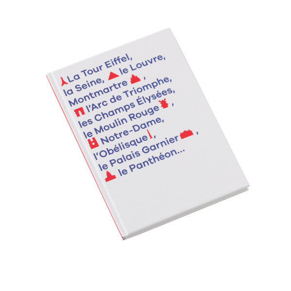 Carnet A6 rigide monuments Paris
