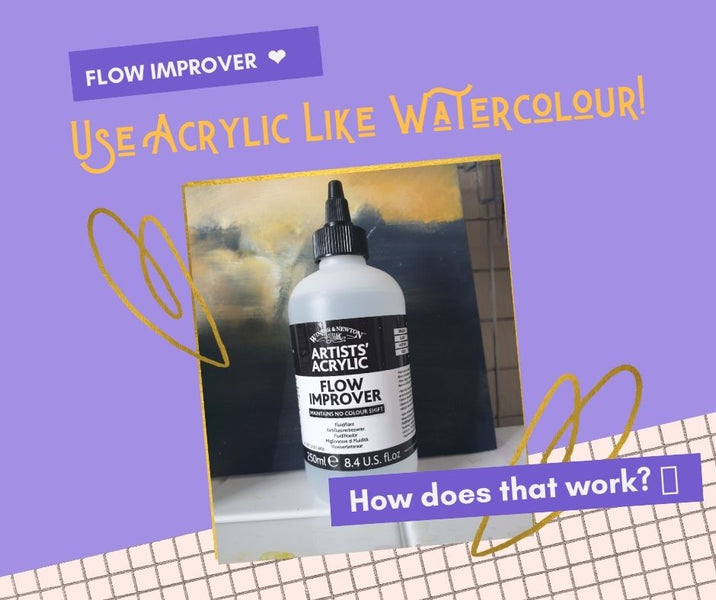 How to use Flow Improver to make Acrylic Act like a Watercolour!