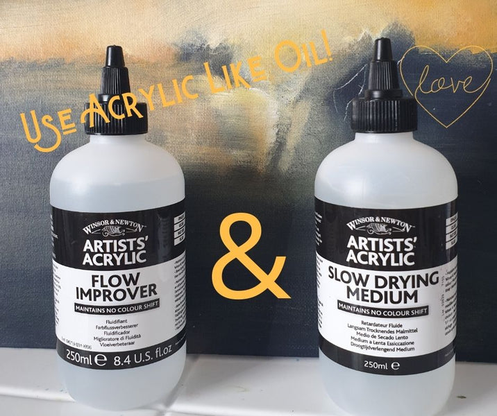 How to use Flow Improver + Slo-Drying Medium to make Acrylic Act like an Oil!