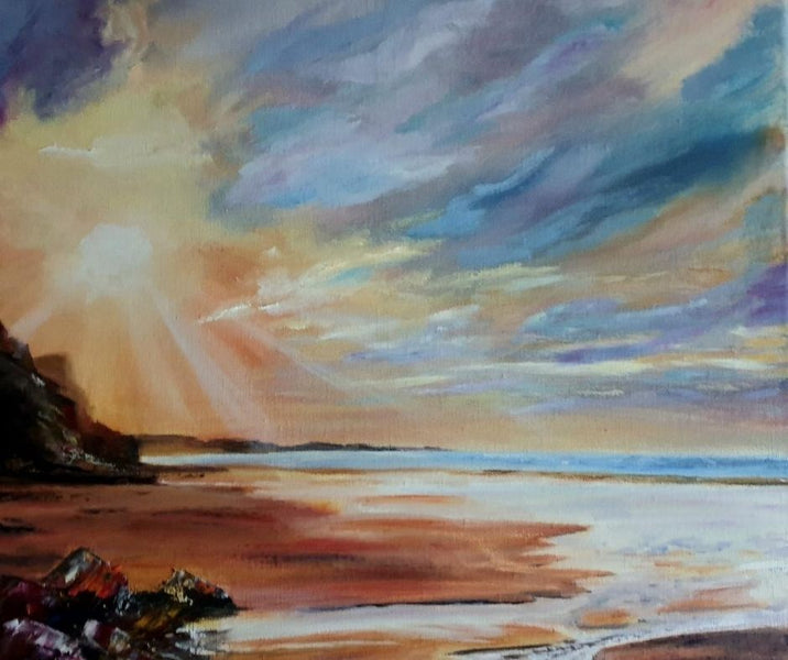 Seascape - Oils over Acrylic