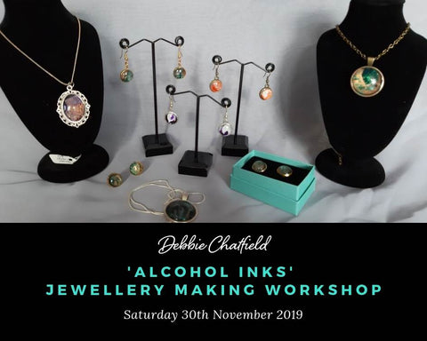 Jewellery Workshop with Alcohol Inks 30th November 2019