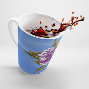Cherry Blossom Leaves Latte Mug
