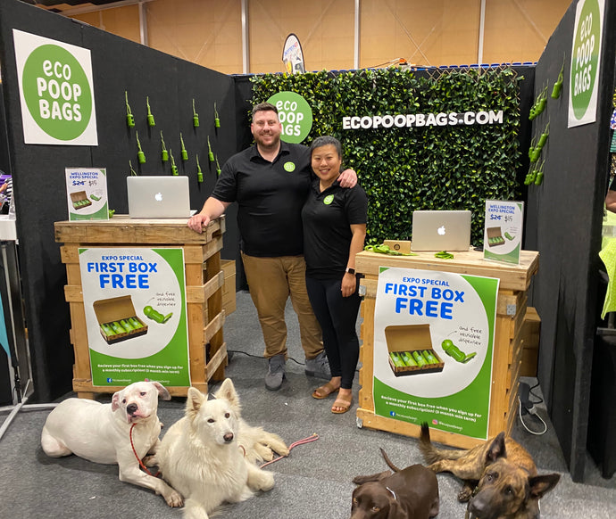 Eco Poop Bags at the Wellington Pet Expo