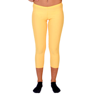 Malla pitillo lycra color amarillo