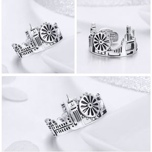 Anillo ajustable London Skyline