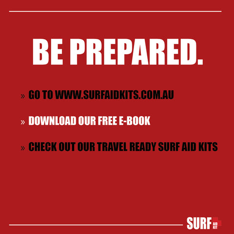 First aid kit for surfers