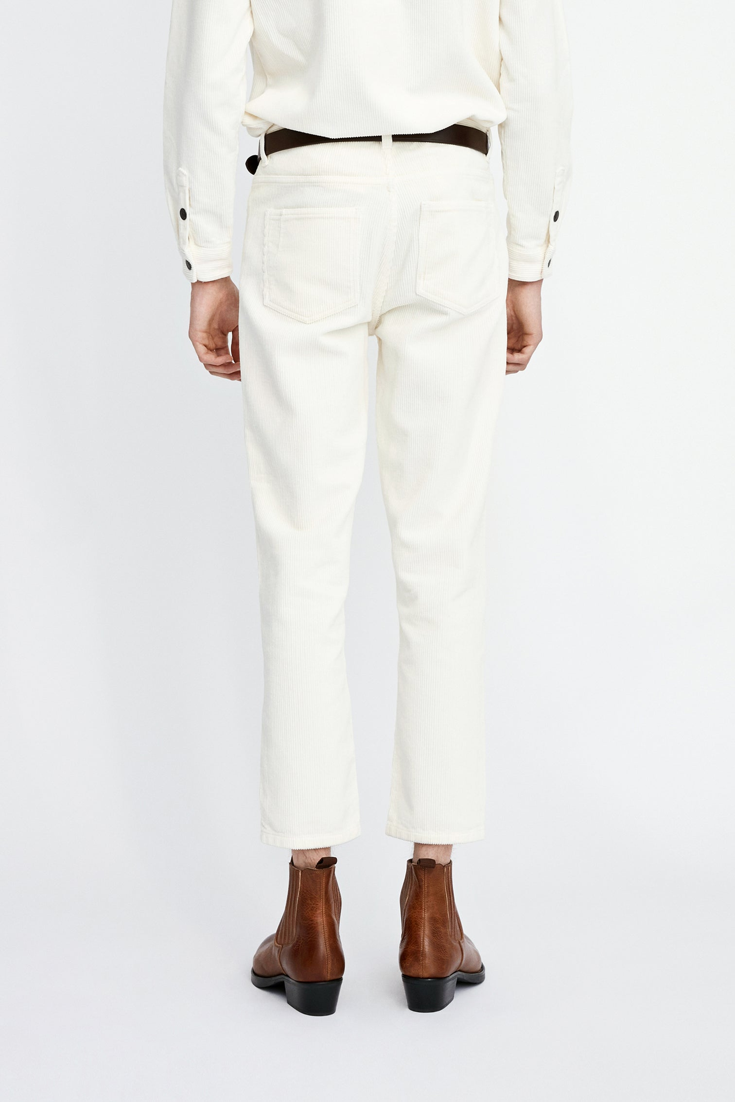 Won Hundred Men Ben Corduroy Trousers Trousers Cannoli Cream