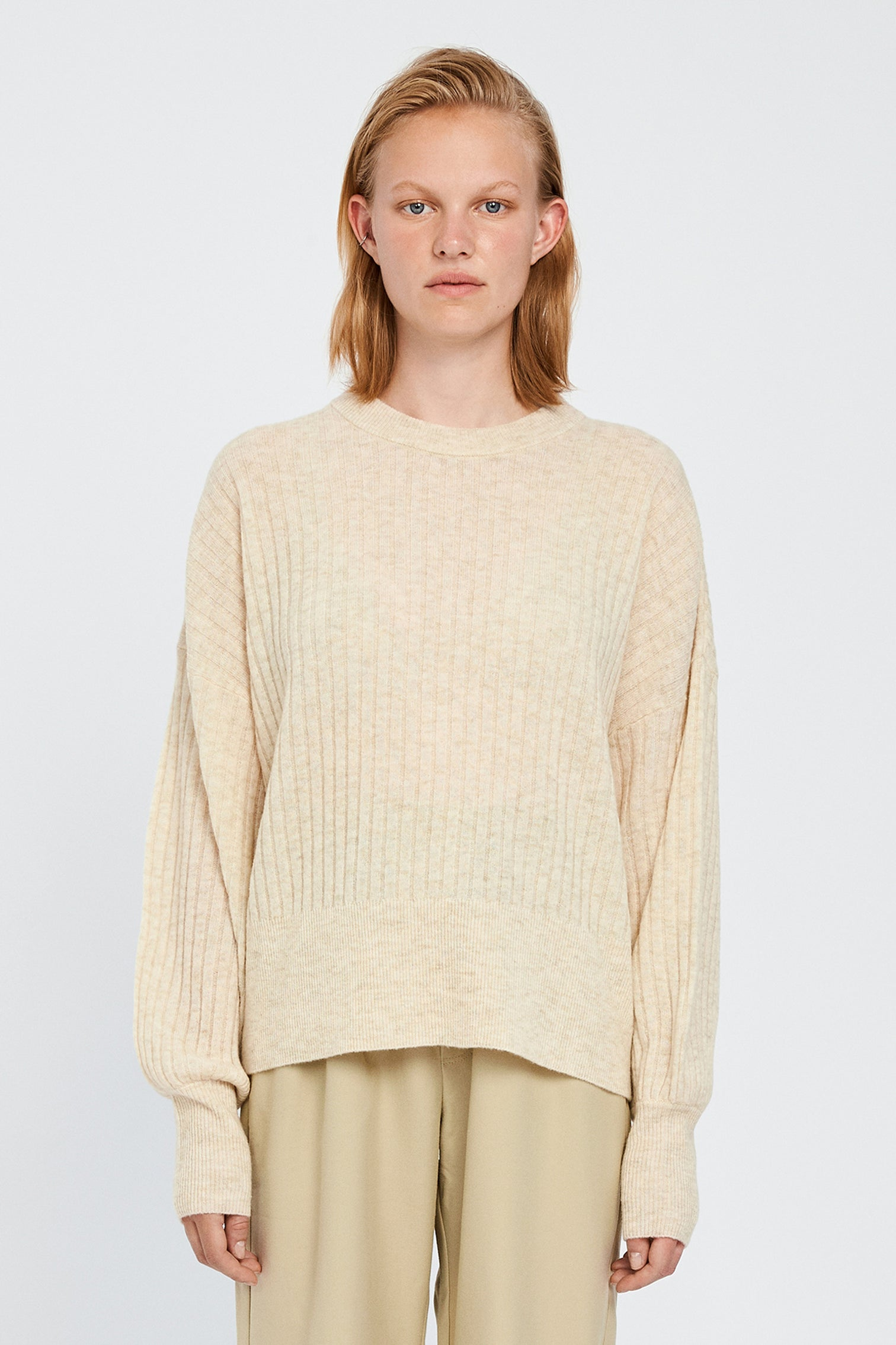 Won Hundred Women Blakely O-neck Knit Knitwear Cannoli Cream