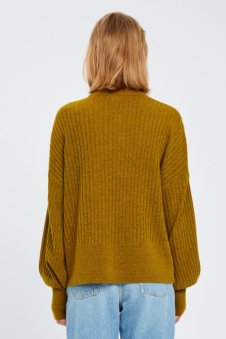 Won Hundred Women Blakely O-neck Knit Knitwear Dried Tobacco