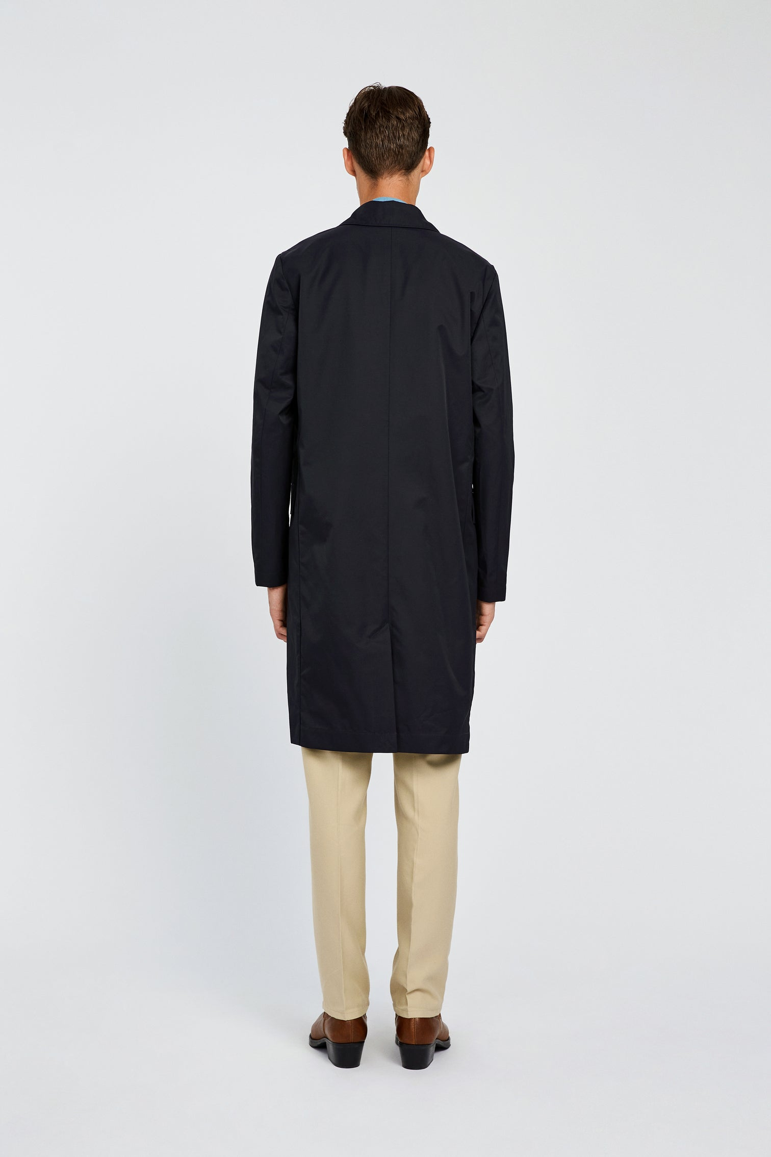 Won Hundred Men Julius Coat Outerwear Dark Navy
