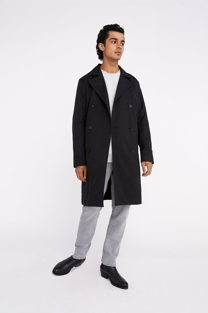 Won Hundred Men Kerry Trenchcoat Outerwear Black