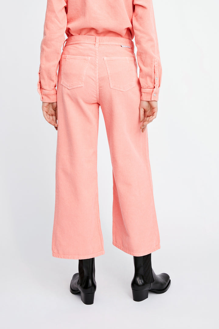 Won Hundred Women Kiri Corduroy Trousers Trousers Candlelight Peach