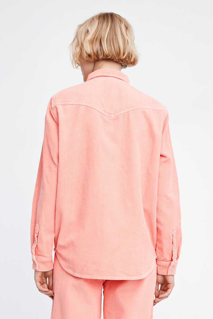 Won Hundred Women Pernilla Corduroy Shirt Shirt Candlelight Peach
