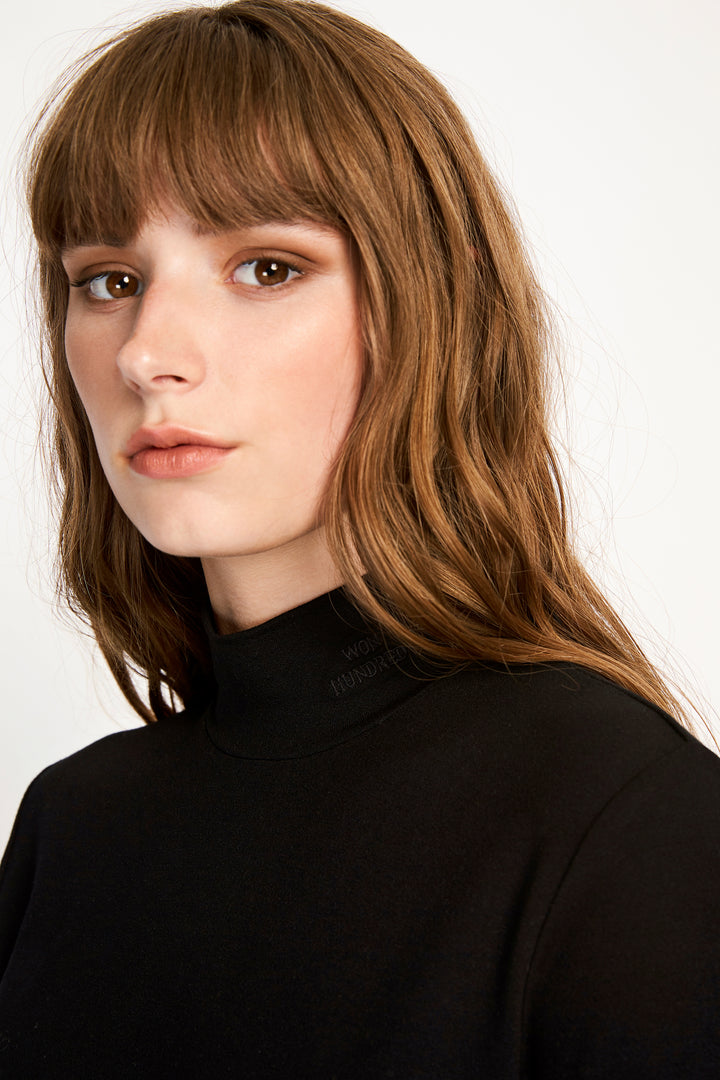 Won Hundred Women Roxy Turtleneck Top Top Black
