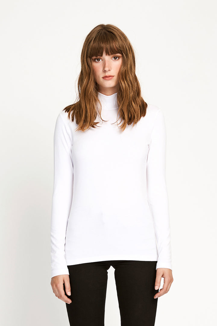 Won Hundred Women Roxy Turtleneck Top Top White