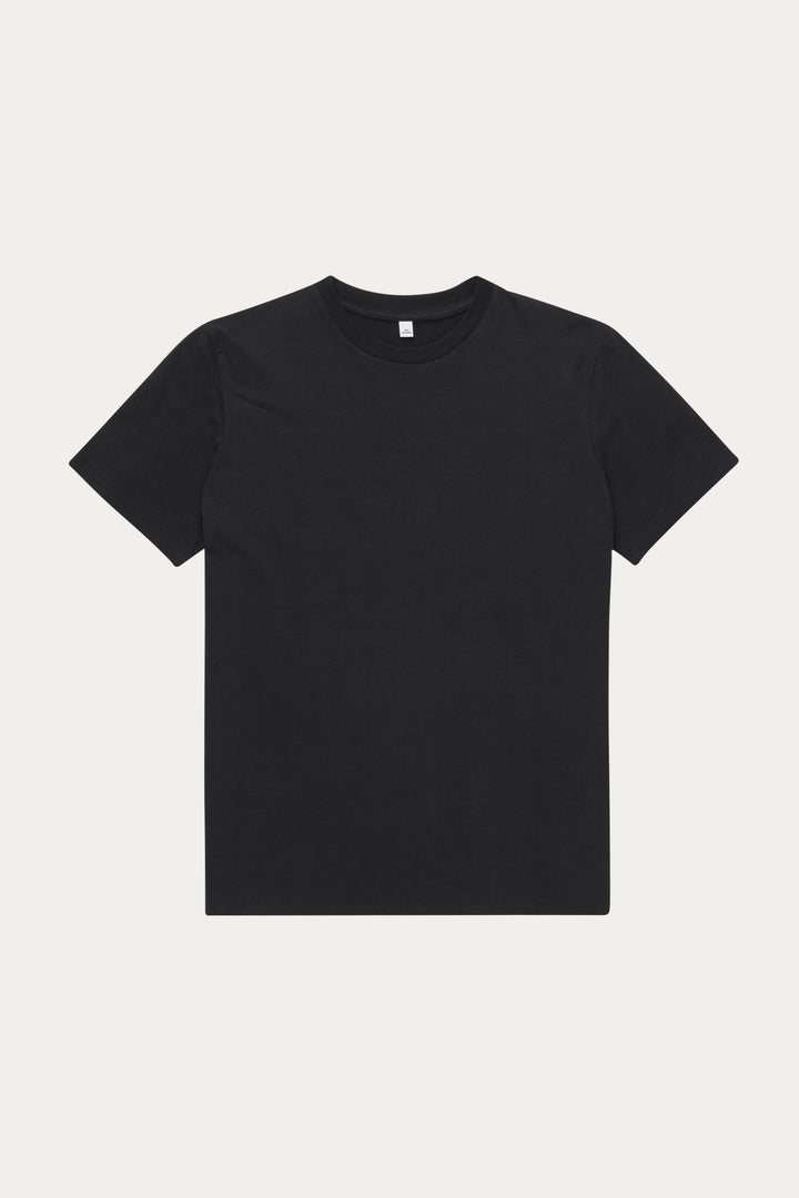 Won Hundred Men Troy Plain T-shirt T-shirt Black