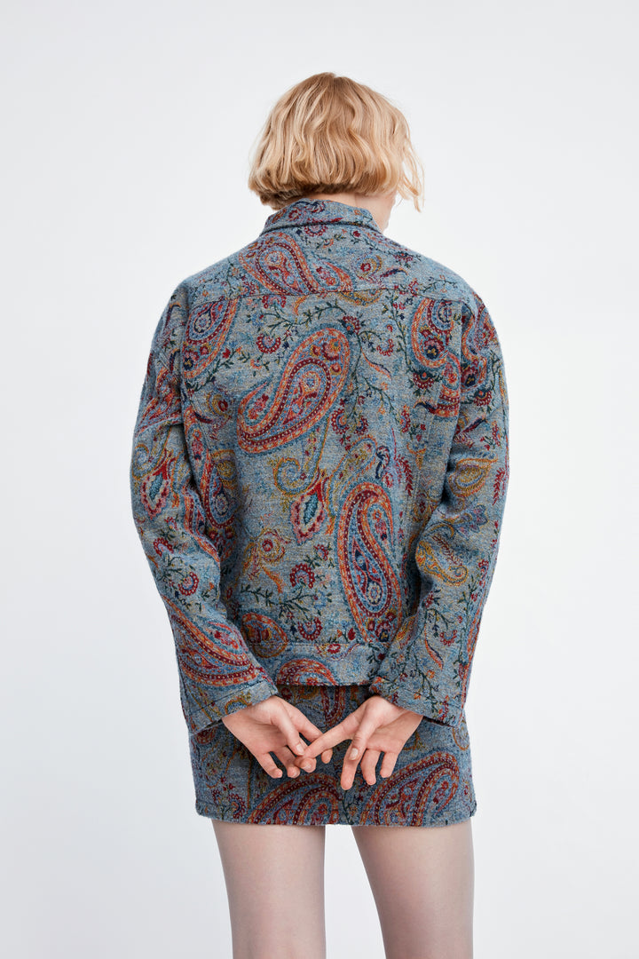 Won Hundred Women Vilda Padded Jacket Jacket Paisley Jacquard