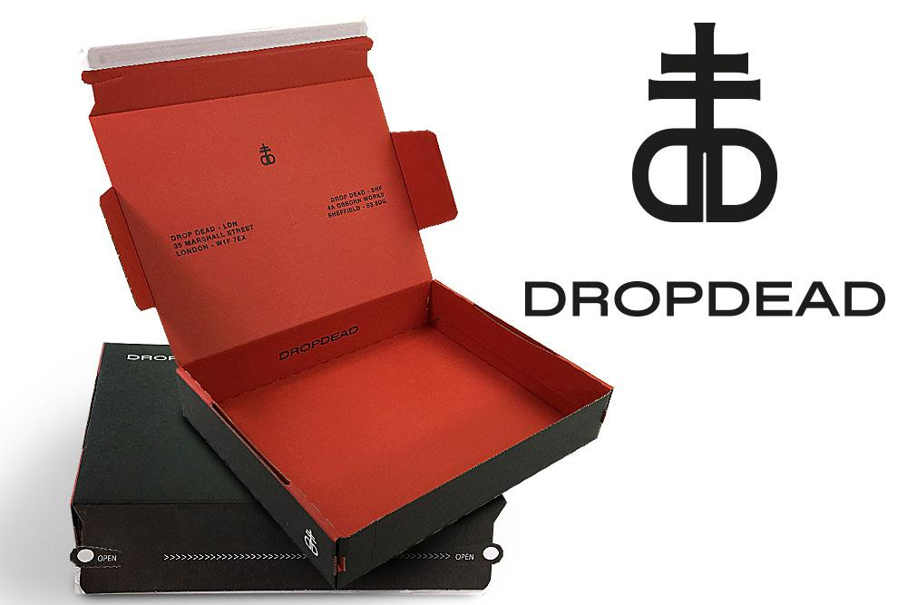 Drop Dead fashion packaging postal boxes for clothes Drop dead clothing postal fashion mailboxes postal packaging cardboard box Fashion mailboxes postal packaging dropdead Beautiful Fashion mailboxes postal packaging dropdead custom printed
