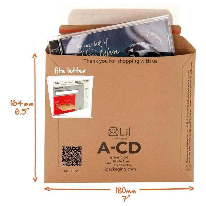 A-CD - a CD sized envelope for mailing out CDs