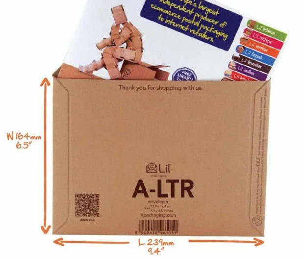 A-LTR - a letter sized envelope for Royal Mail