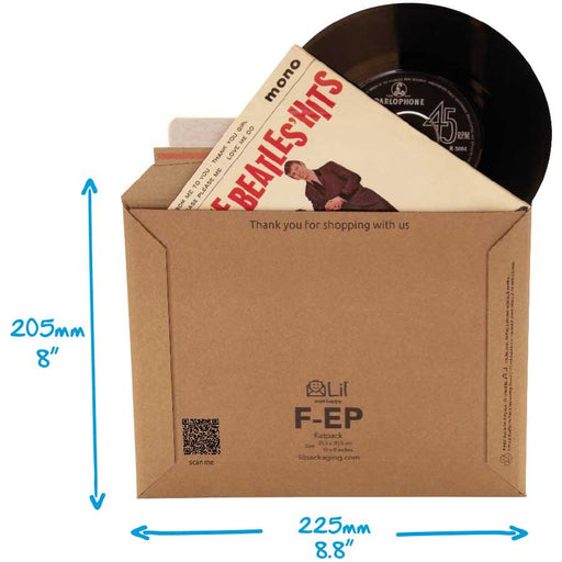 tough corrugated cardboard envelope perfect square reinforced envelope for mailing 7 inch vinyl records EP size