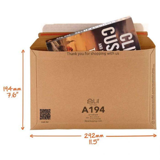 A194 envelope perfect cardboard envelope for mailing documents, books and more