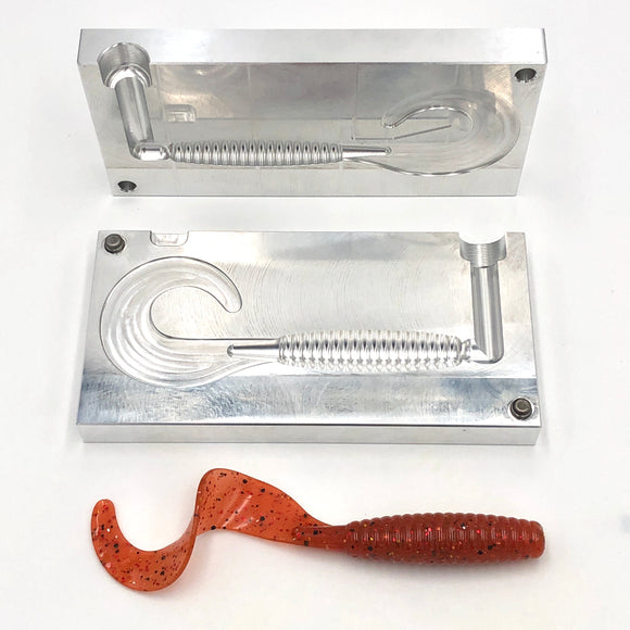 7 inch Single Curly Tail Grub Mold