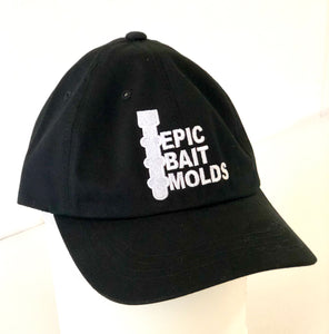 Epic Bait Molds: Dad Hat (Low Profile Curved Bill) Black