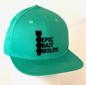 Epic Bait Molds Snapback Flatbill: Solid Mint
