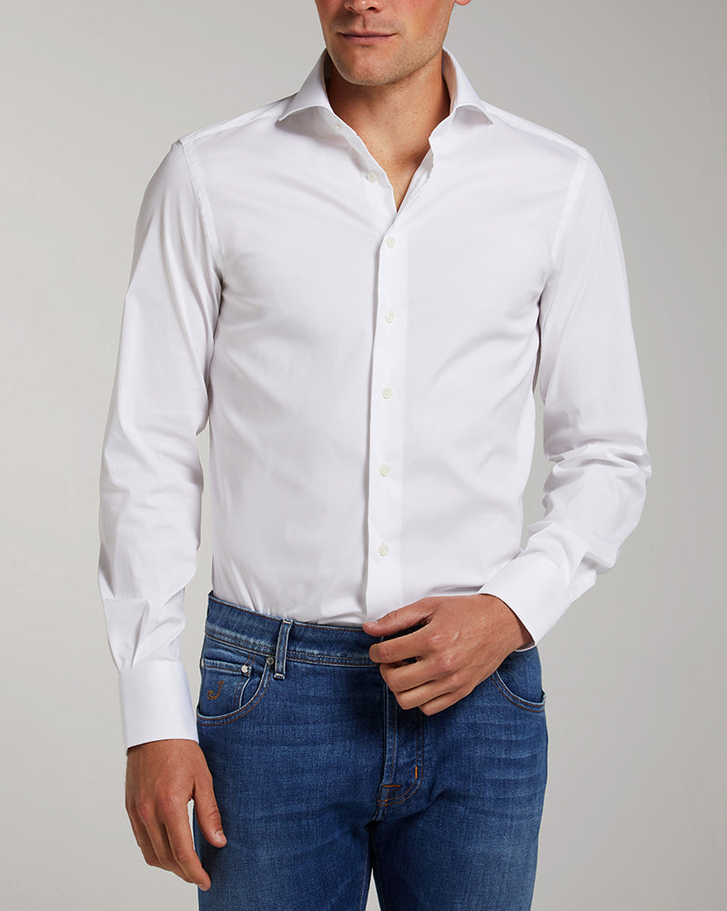Slim Fit Weiss Stretch Bestseller