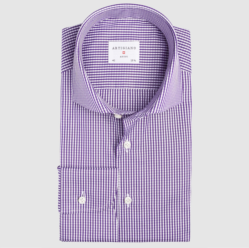 Classic Fit Purple Check
