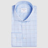 Slim Fit Karo Hellblau