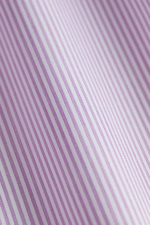 Classic Fit Purple Wrinkle Free Stripe