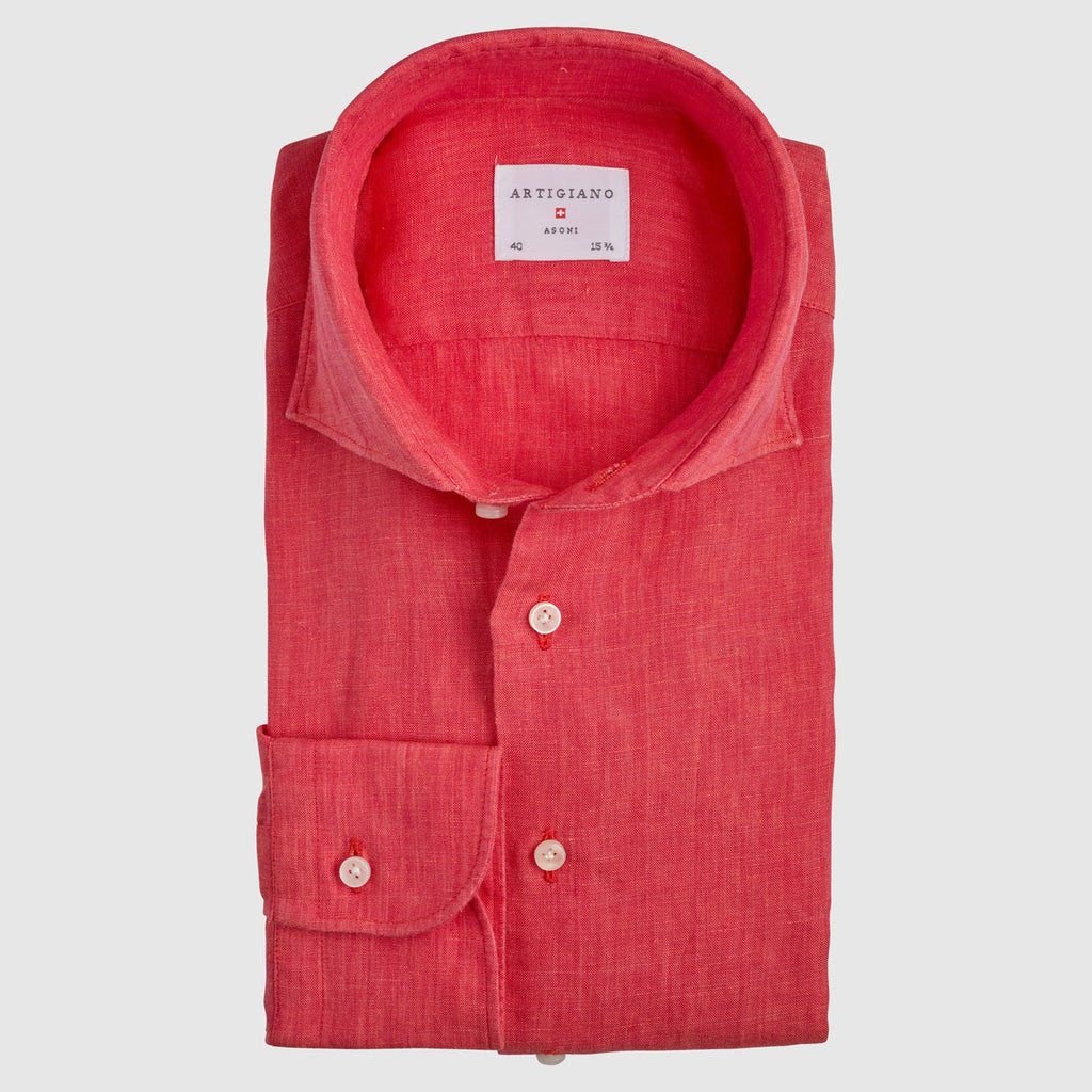 Classic Fit Coral Linen