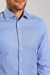 Slim Fit Blau Gestreift