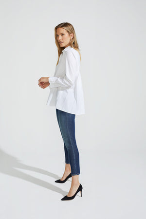 Pleated Stretch Blouse