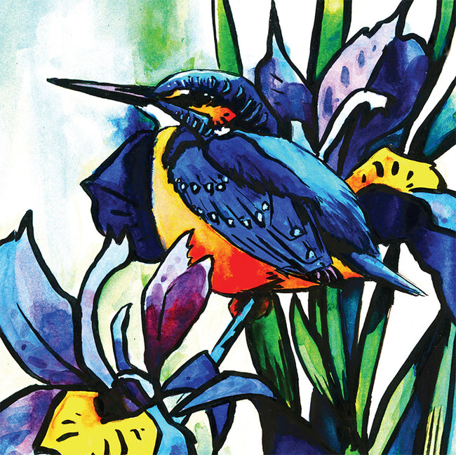 The Kingfisher Greeting Card and Gift by Dan and Rosemary Powell