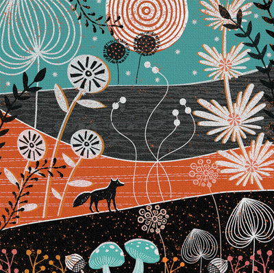 The Wandering Fox Greeting Card and Gift by Jo Parry