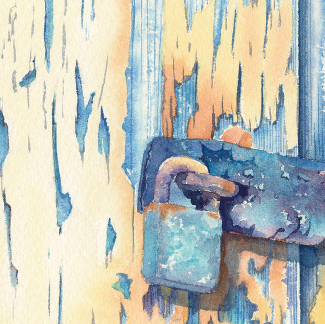 The Lock Greeting Card and Gift by Denise Schoenberg