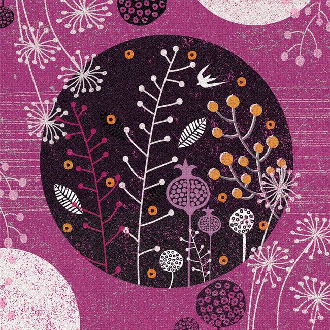 Raspberry Moon Greeting Card and Gift by Jo Parry