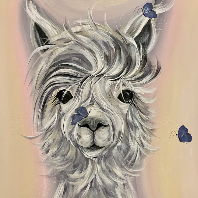 Dolly Llama Greeting Card and Gift by Kathryn Dockray