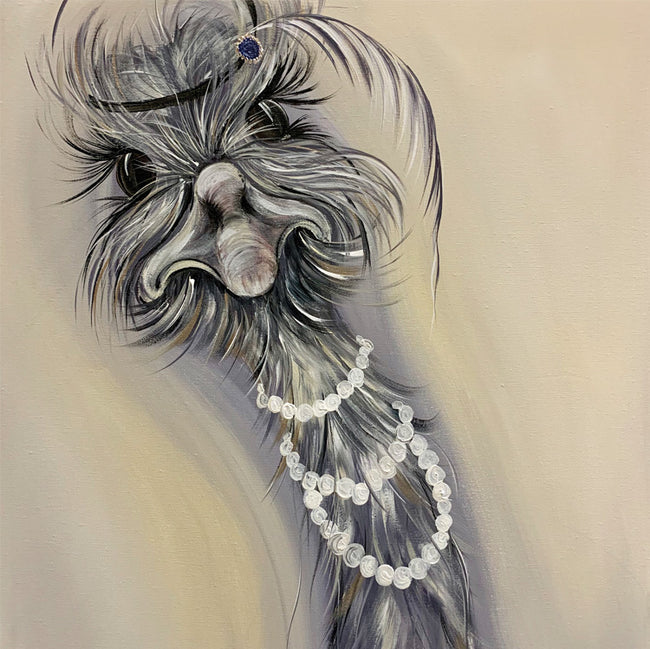 Feathers and Pearls Greeting Card and Gift by Kathryn Dockray