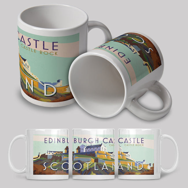 Edinburgh Castle Art Deco Ceramic Mug