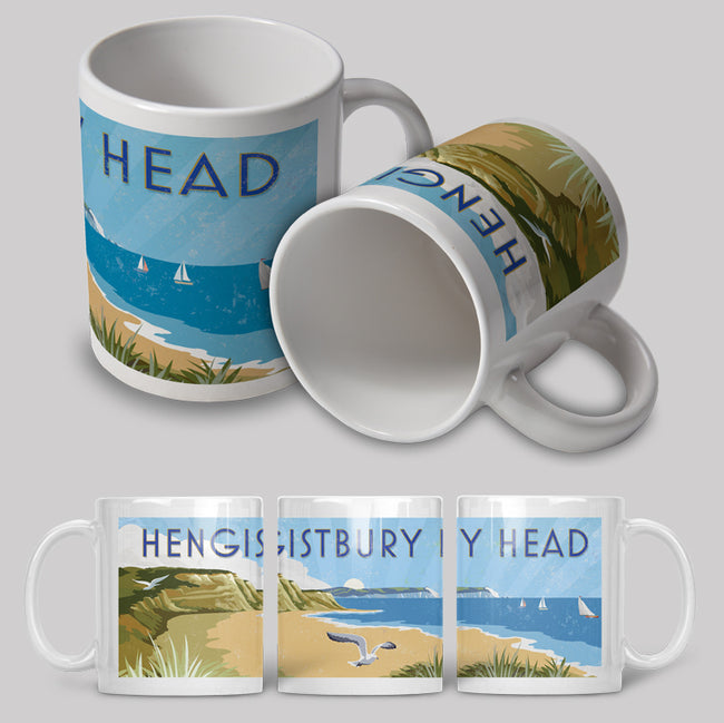 Hengistbury Head Art Deco Ceramic Mug